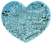 Me encanta la música — Vector de stock