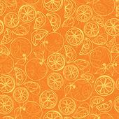 Oranges pattern — Stock Vector