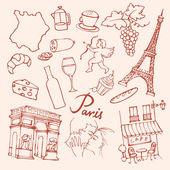 Paris doodle — Stock Vector