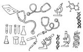 Iconos de la ciencia — Vector de stock
