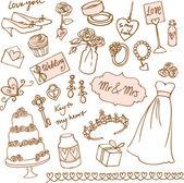 свадебные символы — Cтоковый вектор