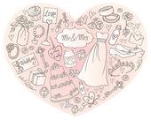 άλλα-εικονίδια στην καρδιά — Διανυσματικό Αρχείο