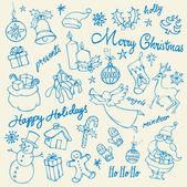 Christmas doodle — Stock Vector