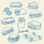 Sandwich doodle — Stock Vector #49204309