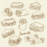 Sandwich doodle — Stock Vector #49204313