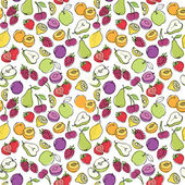 Fruit icons pattern — Vector de stock