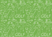 Golf  pattern — Stock Vector