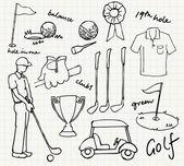 Ikony golf — Wektor stockowy
