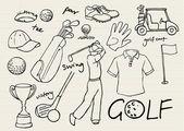 Golf ikony — Stock vektor