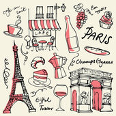 Paris landmarks icons — ストックベクタ