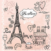 Love in Paris — Stockvector