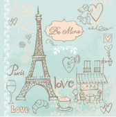 Love in Paris — Vettoriale Stock