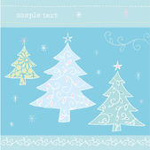Christmas trees card — Stock Vector