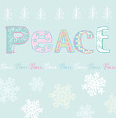 Julkort med snöflingor — Stockvektor