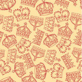 Crowns pattern — Vettoriale Stock