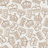 Crowns pattern — Vector de stock