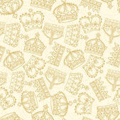 Crowns pattern — Stockvector