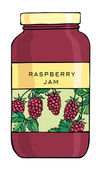 Raspberry Jam — Stock Vector