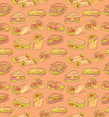 Sandwich  pattern — Stock Vector