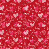 Hearts and love pattern — Vector de stock