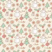 Christmas seamless background — Stock Vector