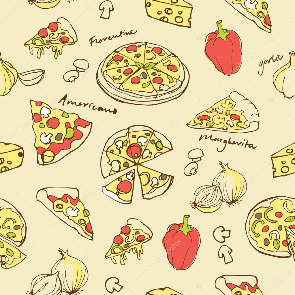 Фон пиццы