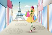 Einkaufen in frankreich — Stockfoto