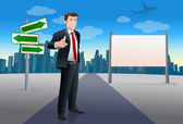 Businessman point at you — Stockfoto