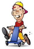 Playing bike — Stockfoto