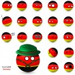 Country Ball - set of smileys Germany — Stock Vector #48538173