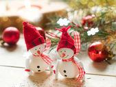 Two snowmen — Stock Photo