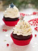 Cupcakes de natal — Fotografia Stock