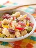 Pasta salad with ham — Stock Photo