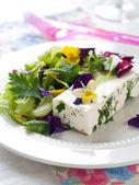 Salada com queijo — Fotografia Stock