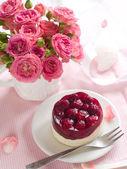 Pastel y rosas — Foto de Stock