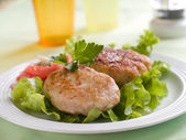 Fish or meat rissole — Stock Photo