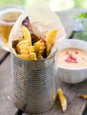 Aardappel frietjes — Stockfoto