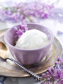 Lemon and lavender  ice cream — Stock Photo