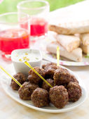 Minced meat balls — Stock Photo