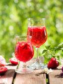 Fruit lemonade or Sangria — Stock Photo