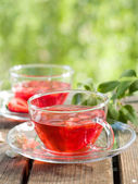 Fruit tea with strawberry — Stock Photo