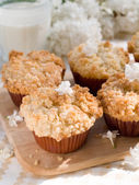 Sweet muffins with rhubarb — Stock Photo