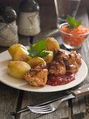 Meat kebab — Stock Photo