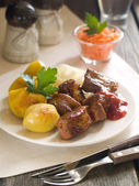 Meat kebab — Stock Photo
