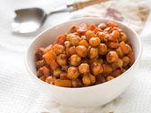 Kikkererwten en wortel stoofpot — Stockfoto