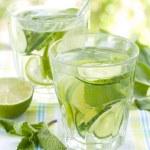Cold lemonade drinks — Stock Photo #48238423
