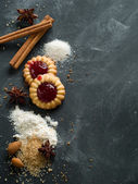 Spices and cookies — Stock Photo