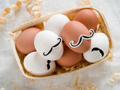 Hipster eggs — Stock Photo