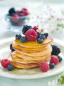 Pancakes with berry — Stock Photo