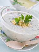 Cold yogurt soup — ストック写真